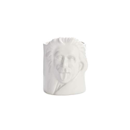 balvi Schreibstifthalter Einstein Weiß Schreibstifthalter für den Schreibtisch, mit dem Porträt des berühmten Physikers Einstein, Keramik