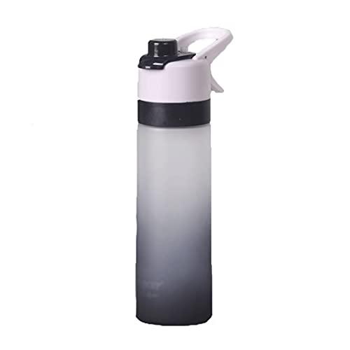 Botella agua deportiva portátil - Botellas spray verano Botella agua para beber y nebulizar Botella agua para nebulizar Botella agua para rehidratación al aire libre Enfriamiento con marcador tiempo