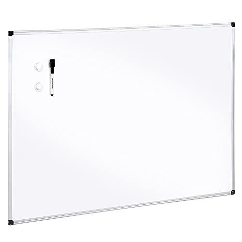 Amazon Basics Magnetic Dry Erase Board, 24' x 36', Aluminum Frame