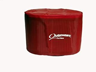 NEW OUTERWEARS FILTER COVER WITH TOP FOR OVAL MOTORCYCLE AIR FILTERS, RED, K&N HA-2584 HA-1314 HA-1315, HONDA XR200R XR250R XR400R XR600R BIKES