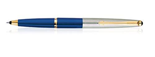 Parker Galaxy Stainless Steel Gold Trim Roller Ball Pen
