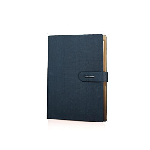 YHYH computadora portátil A5 Línea Horizontal Cuaderno Papel Grueso Papel Retellable Revista Binder Escritura Nota Tomar Diario y planificador Cuaderno de Escritorio (Color : Blue)