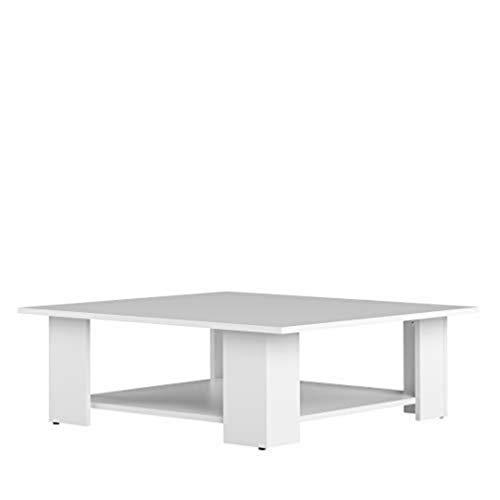 TemaHome Table Base Square, Panneaux de Particules Mélaminés, Blanc, 89 x 89 x 30,5 cm
