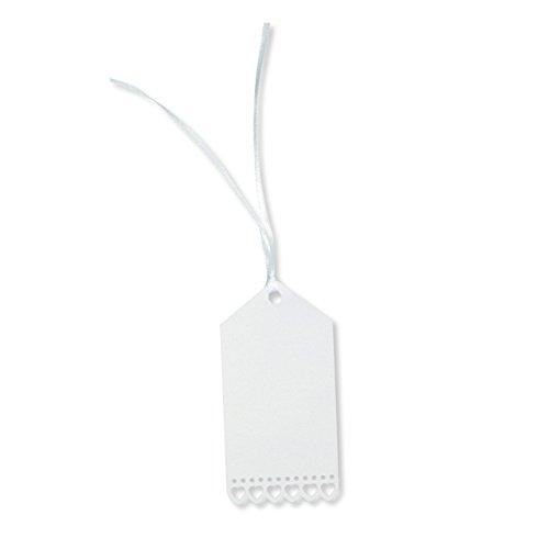E+N Geschenk-Anhänger Herzen weiß/Perlmutt, 10x5cm, 20St./Pack
