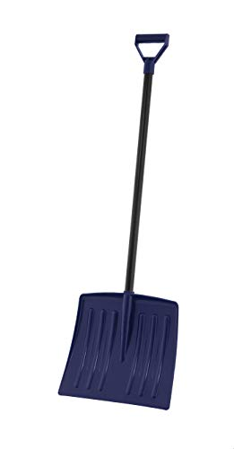 """Superio Size, Snow, Comfort D Grip Sturdy Metal Handle 35"""" Height, Durable Plastic Blade Kids Safe Shovel, One, Navy"""