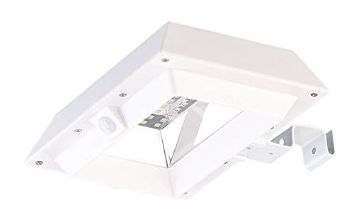Lunartec Dachrinnenleuchten: 2in1-Solar-LED-Dachrinnen- & Wandleuchte, PIR-Sensor, 300 lm, weiß (Außenwandleuchten Bewegungsmelder)