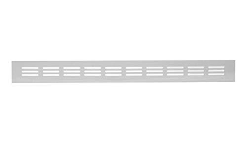 40x500mm Aluminium Lüftungsgitter Weiß Stegblech Lüftung Alu-Gitter Gitter Möbelgitter Möbellüftung