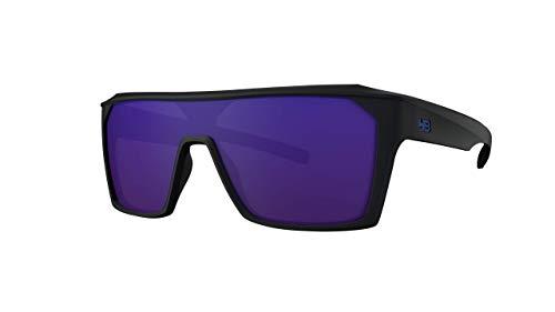 Óculos de sol Carvin 2.0 HB AdultoUnissex Preto Matte/Azul Único