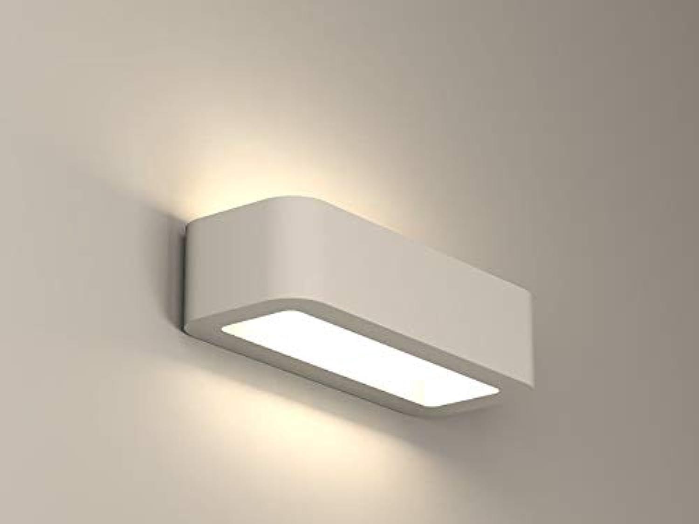 NAKA24 Wandleuchte Kubik ROUNED mit Glas 7720 Keramik Wandlampe Lampe Gipslampe