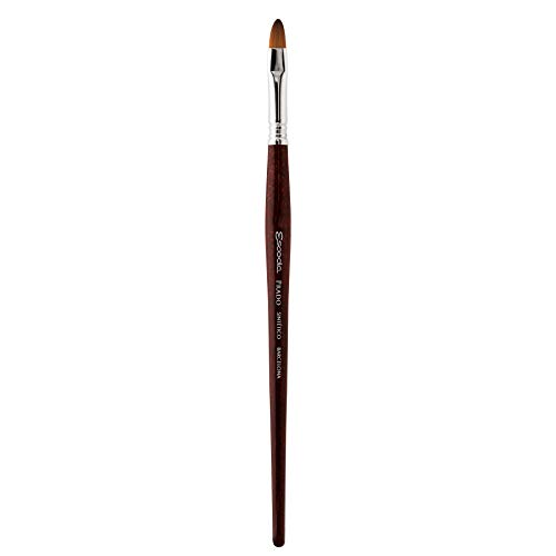 Speedball Art Products Escoda Prado Series Artist Watercolor & Acrylic Short Handle Bright Paint Brush, Size 2, Synthetic Sable