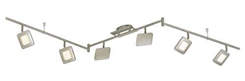 LED Deckenleuchte, Deckenstrahler, Spot, 6 x LED Platine, 4,5 Watt, Strahler dreh- und schwenkbar, matt-nickel