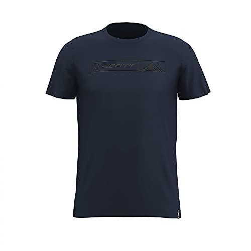 Scott M 10 NO Shortcuts S/SL Tee Blau, Herren T-Shirt, Größe XL - Farbe Midnight Blue