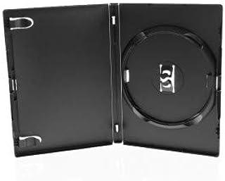 Amaray DVD Envoltorios, 14 mm, con Clip para Tray, 1 a 3 Piezas Capacidad, 100 Unidades, Negro