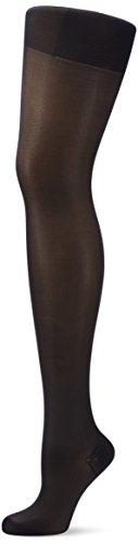 ELBEO Damen Glanz Fein Strumpfhose Fitness, 900024, Gr. 50 (Herstellergröße: 48-50), Schwarz (schwarz 3800)