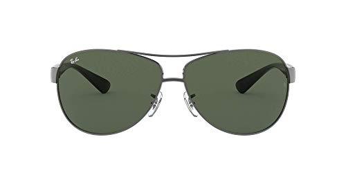 Ray-Ban Unisex Mod. 3386 Sonnenbrille, Mehrfarbig (Gestell: Gunmetal/Schwarz, Gläser: Grün Klassisch 004/71), X-Large (Herstellergröße: 67)