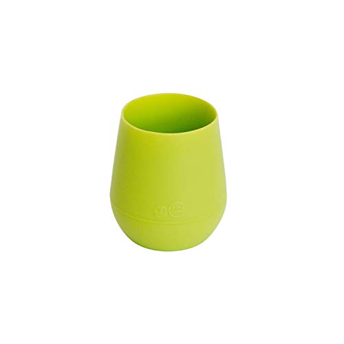 ezpz Tiny Cup (Lime) - 100% Silicone Training Cup for Infants - Designed by a Pediatric Feeding Specialist - 4 months+