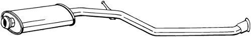 Mittelschalldämpfer (1220-1768) Dämpfer Abgasanlage Auspufftopf