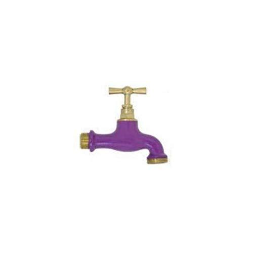 Boutte - Robinet d'arrosage bicolore Violet, 15x21/20x27