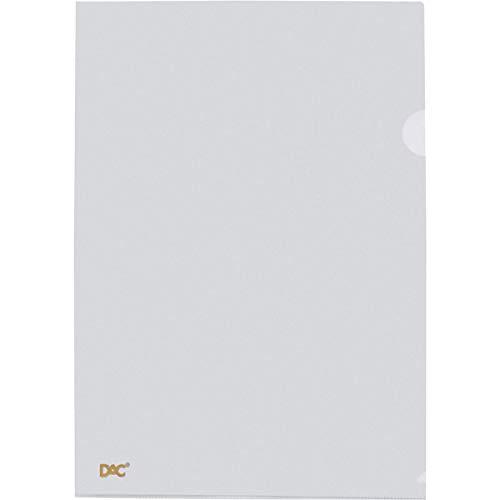 DAC 042PP-TR, Pasta L, A4, Cristal, Multicor, Pacote de 10
