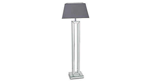 Argent 29x13x61 cm MobilierMoss Khiva Lampe de Table Pied Miroir