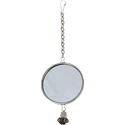 Vogel Spiegel Espello Ø 5cm Silber mit Glöckchen