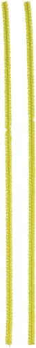 Darice 10166-20 Chenille Stems Yellow 6Mmx12In 100Pc Bx, 100 Piece (6mm x 12in), Count