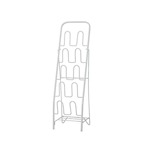Zapatero de hierro nórdico para ahorrar espacio, organizador de almacenamiento de zapatos multicapa para sala de estar, dormitorio, pasillo (color: blanco, tamaño: mediano)