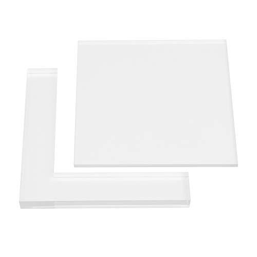 Set van 2 stempels voor stempels van rubber, acryl, kleurbord, lokalisatie, helder, doe-het-zelf acryl pad