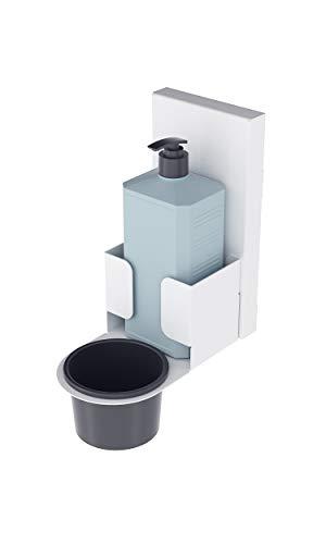 Magnet Ltd Wand Desinfektionshalter für Desinfektionsmittel der Hände - Idealer Desinfektionsspender für Öffentliche Gebäude (WDM-1) (Weiß)
