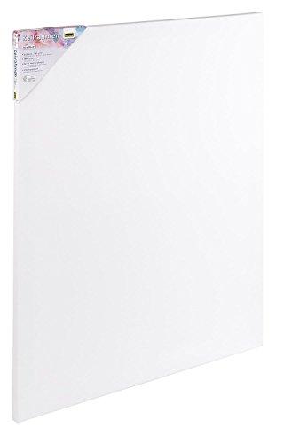 Idena 60005 - Keilrahmen mit Leinwand aus 100% Baumwolle, 380 g/m², FSC zertifiziert, für Öl- und Acrylfarben, 50 x 70 cm, weiß