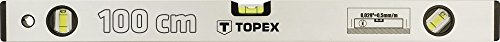 Topex 29C304 Aluminium-Wasserwaage eloxiert 100 cm