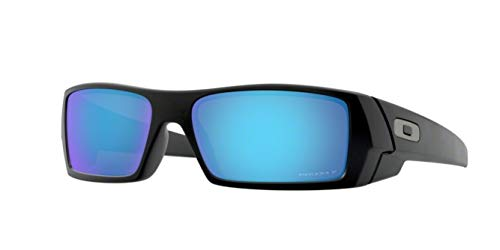 Oakley Gascan, OO9014 (50) Matte Black/Prizm Sapphire Polarized 60mm, Sunglasses Bundle with original case, and accessories (6 items)