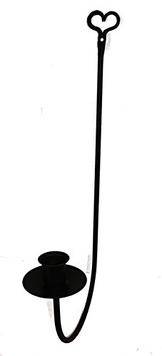 Black Wrought Iron Sconce - 3