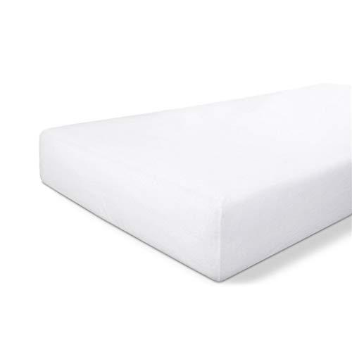 Byrklund Molton - Coprimaterasso 180 x 200 cm, 100% cotone, perfetto per il materasso, morbido al tatto, non si piega e non si stira, colore: Bianco