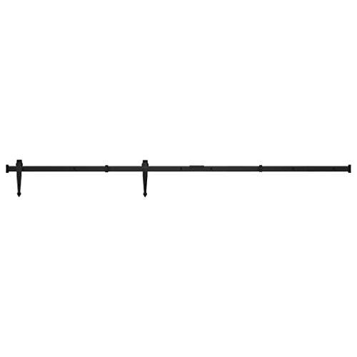 vidaXL Herraje para puerta corredera de acero al carbono, 152 cm