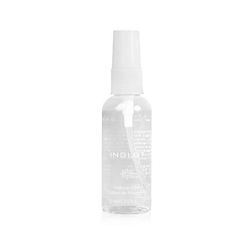 INGLOT Make Up Fixierspray (50ml) | Handliches Make-up Fixier-Spray – Ohne Alkohol / Für ein langanhaltendes Make-up / Mit Extrakt aus schwarzen Perlen