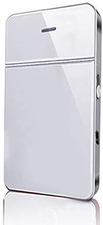 Juntful Oplaadbaar elektrisch scheerapparaat voor heren, van aluminium, dun scheerapparaat, alternatief lemmet voor gezichtsverzorging