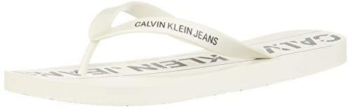 Calvin Klein Chanclas para hombre Art B4S0677 blanco color foto medida a elegir Blanco Size: 43 EU