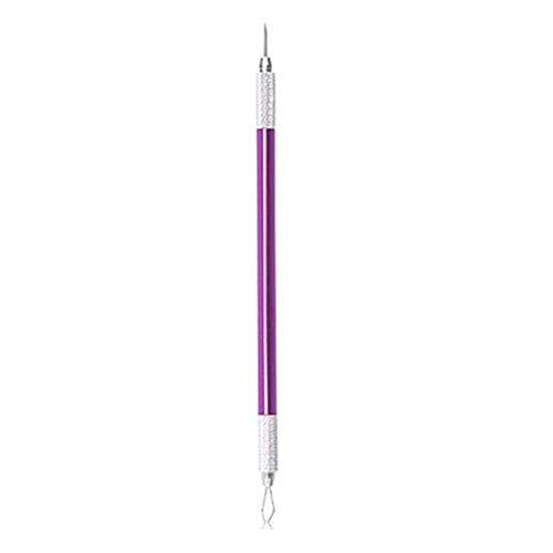 Point Noirs Extracteur Pimple Extractor Poussoir pour Whitehead Acné Tache Comédon Extracteur Outil Nez Point Noir Aiguille purple