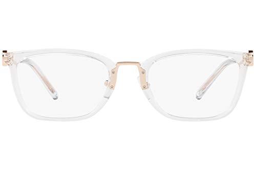 Michael Kors MK 4054 3105 Crystal Clear Eyeglasses Frame w/Demo lens-52mm, 52/20/140
