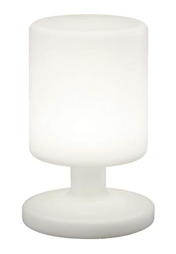 Reality Leuchten LED Akku Tischlampe Tischleuchte, 1,5W, USB, 25,5 cm Höhe, weiß R57010101 [Energieklasse A+]