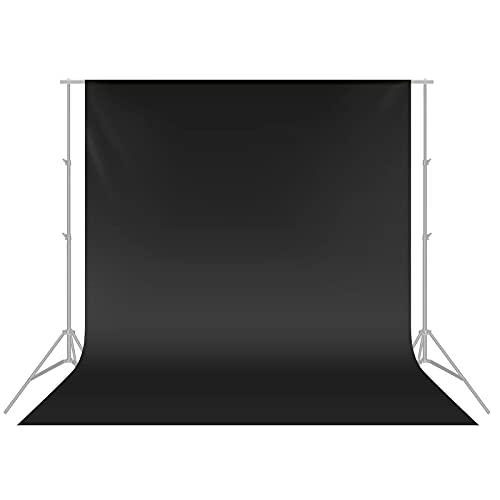 Neewer - Sfondo Fotografico Pieghevole in Mussola 100%, Nero, 3 x 6 m