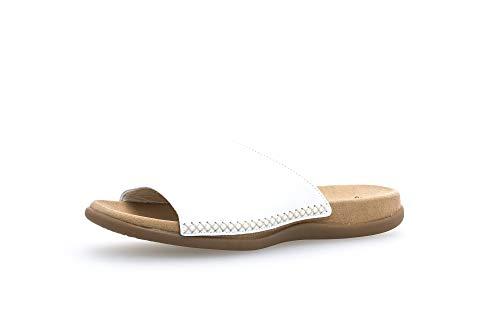 Gabor Shoes Damen Gabor Cervo Pantoletten, Weiß (weiss), 42 EU