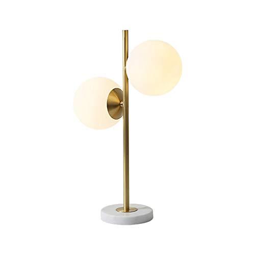 F.L.S Lamparas De Mesita De Noche Lamparas De Mesa Cobre Lleno lámpara de Mesa nórdico, lámpara de Noche cálida y Creativa en el Dormitorio, pequeña lámpara de Mesa Moderna y Sencilla