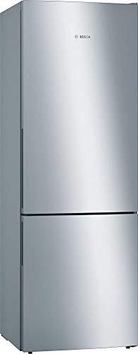 Bosch KGE49AICA Serie 6 - Frigorífico y congelador XXL independiente/C / 201 x 70 cm / 163 kWh/año/Inox-antifingerprint / 302 L / 117 L parte congelador/LowFrost/VitaFresh
