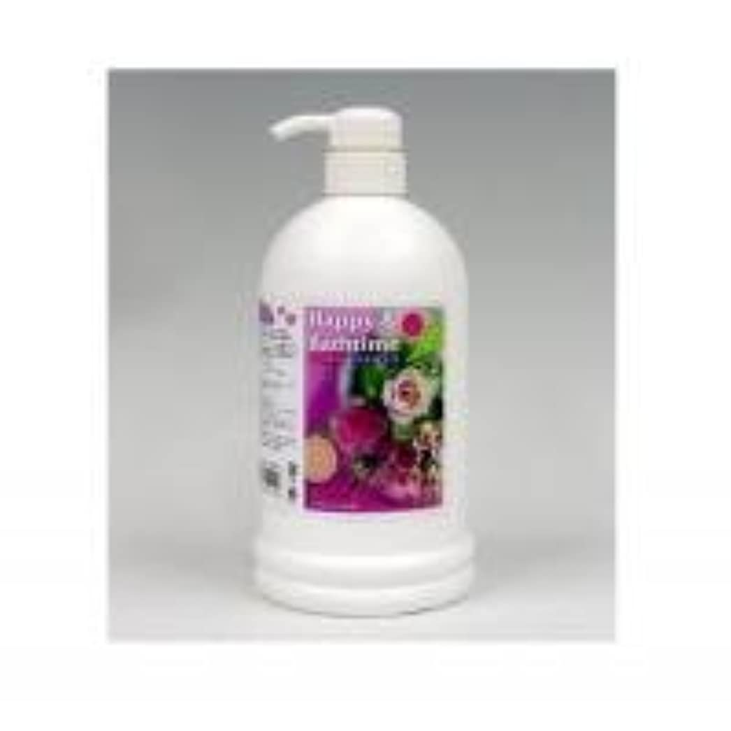 回転発生するオセアニアハッピー&バスタイム ペット用入浴液 1L バラの香り