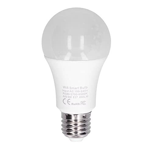 Bombilla de luz inteligente, EVTSCAN E26 9W WiFi LED Bombilla inteligente, funciona con Alexa, Echo,...
