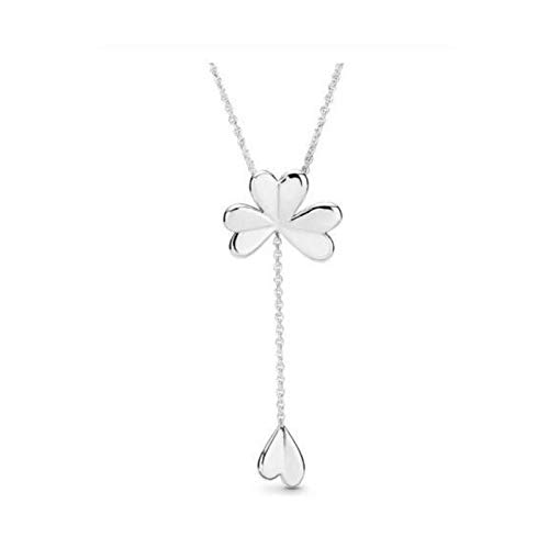 BSbattle 925 Sterling Silver pan Necklace Logo Signature Spinning Hearts Sliding Clasp Necklace for Women Wedding Europe Jewelry-1