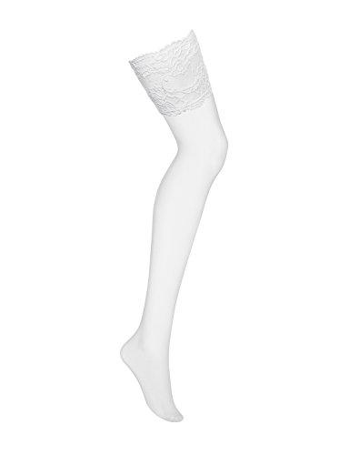 Obsessive MEDIAS DE LIGAS 810-STO Collant, Bianco (Bianco), Estandar Donna