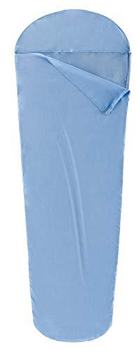 Ferrino Comfort Liner Mummy, Sacco Lenzuolo Azzurro, 220x80x50 cm